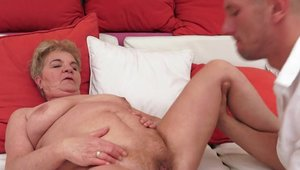 Raw fucking together with busty granny
