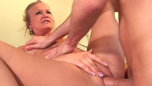 Katie Gold accompanied by MILF Katie Morgan getting facial