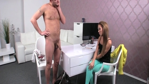 Busty Ben English and Gina Devine getting a facial sex scene