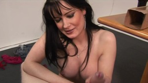 Busty in tandem with King Cock wanking