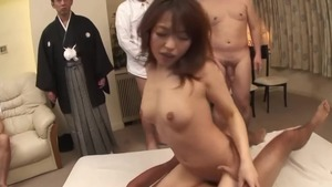 Gangbang small tits asian in HD