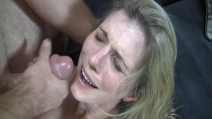 Receiving facial in company with busty bitch Cory Chase