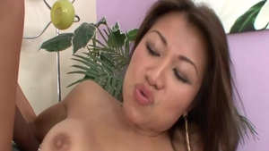 Busty asian babe Jackie Lin wishes nailed rough