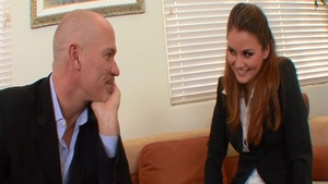 Hazing in office with very cute teen chick Allie Haze