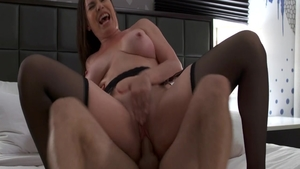 Big tits babe Dana Dearmond riding penis