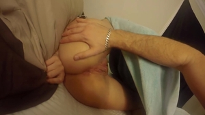 Nice girl ass fingering doggystyle in HD