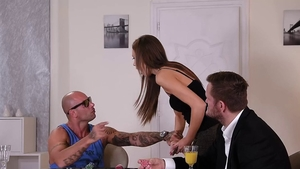 Group sex together with Mike Angelo as well as Tina Kay