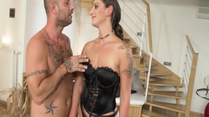 Mike Angelo in tandem with pornstar Nicoletta Noiret blowjobs