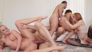 Nailing together with Cristal Caitlin and Billie Star