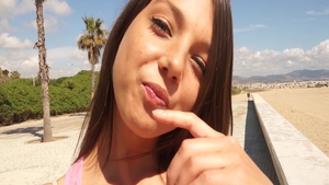 POV hard nailining together with sexy teen chick Foxy Di