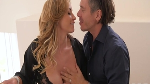 Eva Notty together with blonde Mick Blue