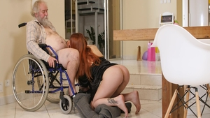 Young and very hawt redhead Charli Red raw pounding