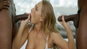Sucking dick in company with hot babe Carter Cruise