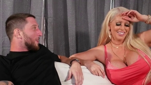 Sex scene along with fake tits mature