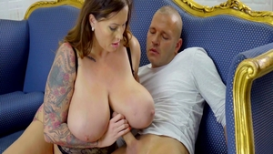 Big boobs pawg Laura Orsolya goes in for sex wearing panties