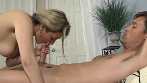 Raw sex in company with hairy housewife