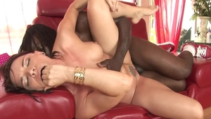 Deepthroat scene among very sexy rough Dana Dearmond