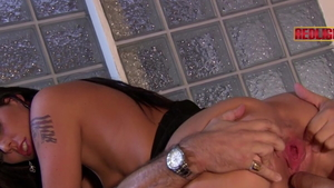 George Uhl in tight stockings with Loona Luxx doggy style