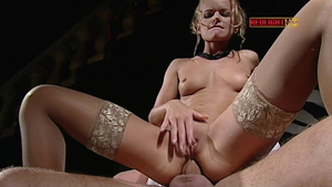 European Vanessa Mae in stockings double penetration
