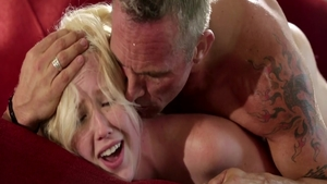 Skinny Samantha Rone finds dick to fuck