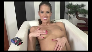 Shaved Silvie Deluxe babe playing with toys porn