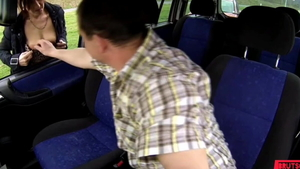 Creampied in a taxi among hottest driver