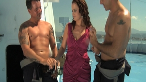 Group sex escorted by sexy brunette Cindy Dollar
