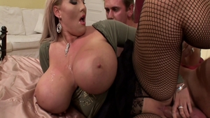BBW Laura Orsolya wants rough nailing in fishnets