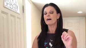 Deepthroat scene together with shaved POV India Summer
