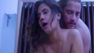 Slamming hard escorted by large tits Hindi MILF