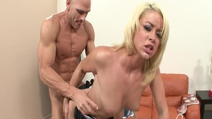 Large tits babe Johnny Sins wishes hard ramming