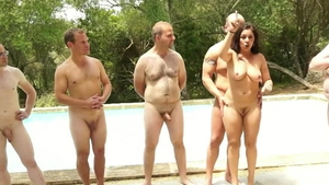 Orgy in the company of european Julia De Lucia