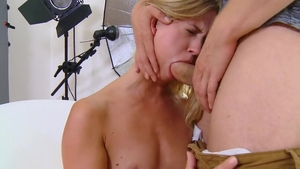 Small tits and young Violette Pure creampied