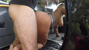 Hardcore sex in the company of big butt blonde