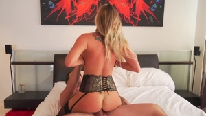 Busty & large boobs Samantha Saint in sexy lingerie pounding