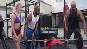 Prince Yahshua and desperate girl Chloe Temple orgy at the gym