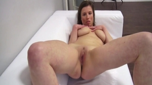 Chubby amateur finds pleasure in rough fucking