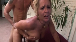 Crazy nailed rough along with big boobs blonde Kelly Leigh