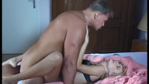 Big tits and hairy pornstar private double penetration classic