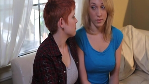 Large boobs supermodel Lily Labeau helps with rough nailing