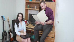 Whitney Wright pussy eating in office