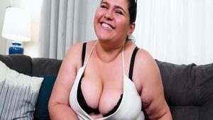 Super hot and hairy BBW Karla Lane POV pussy eating