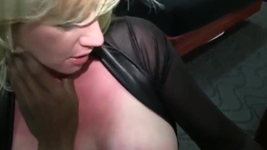 Busty blonde haired interracial sex HD