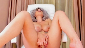 Masturbating together with naughty italian blonde hair