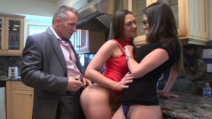 Threesome inked british in HD