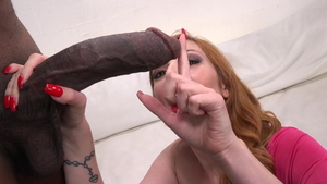 Busty redhead Lauren Phillips closeup missionary