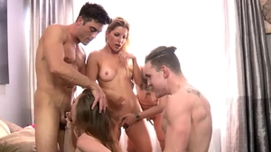 Ramming hard together with Ashley Fires and Anya Olsen