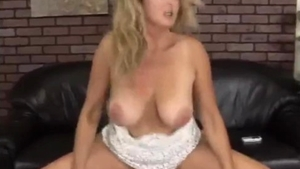 The best sex in company with big tits spanish blonde haired