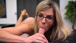 Cumshot together with large tits blonde in tight stockings HD