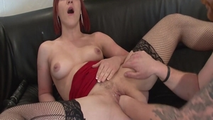 Charming chick rough pussy fuck